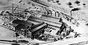 Commonwealth Steel Company - Commonwealth Steel Company's plant in Granite City, Illinois in 1904