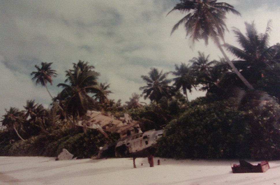 Consolidated PBY Catalina wreck on Diego Garcia 1982