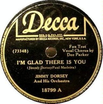 I'm Glad There Is You - Decca 78 single, 18799A, 1946.