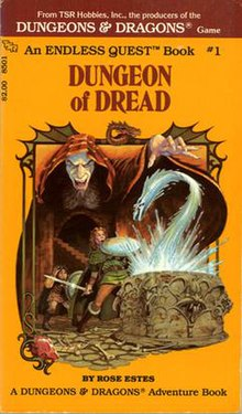 The cover of Endless Quest: Dungeon of Dread