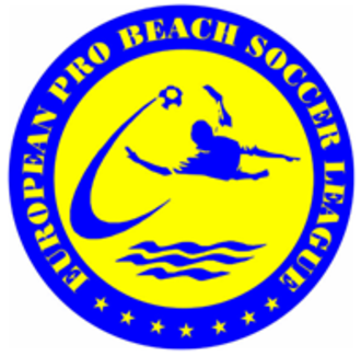 Euro Beach Soccer League - 1998–2003 The first logo. Used until the competition was renamed from the EPBSL to the shortened Euro Beach Soccer League.