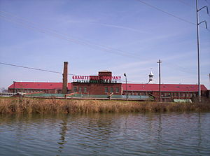 Enterprise Mill - Enterprise Mill with Augusta Canal in foreground