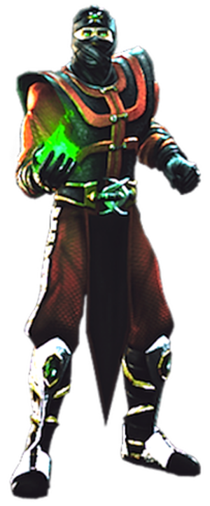 Ermac - Debuting in UMK3 as a palette swap of Scorpion, Ermac received his own unique redesign for Mortal Kombat: Deception following an eight-year absence from the series