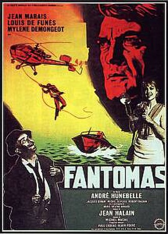 Fantômas (1964 film) - Theatrical poster