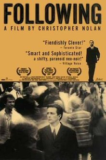 Following 1998 USA Christopher Nolan Jeremy Theobald Alex Haw Lucy Russell  Crime, Mystery, Thriller