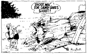 Footrot Flats - A scene from a 1978 Footrot Flats comic strip - showing Wal and The Dog