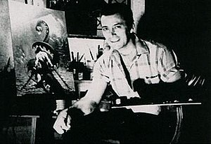 Frank Frazetta - Frazetta at his studio