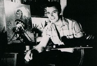 Frank Frazetta - Frazetta in his studio