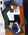 Gino Severini, 1919, Bohémien Jouant de L'Accordéon (The Accordion Player).jpg