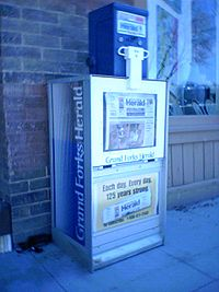Grand Forks Herald street box