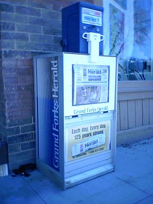 Grand Forks Herald - Grand Forks Herald street box