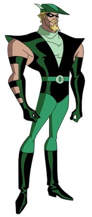 Green Arrow in other media - Green Arrow, as appeared in Justice League Unlimited.