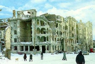 Grozny - A street in Grozny after the First Chechen War