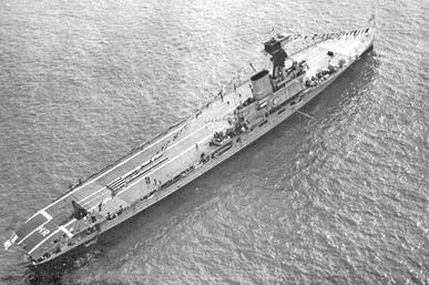 HMS Hermes - Spithead - 1937