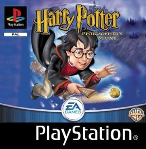 Harry Potter and the Philosopher's Stone (video game) - European PlayStation cover art
