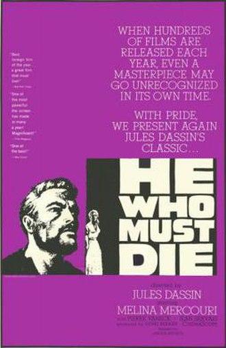 He Who Must Die - Image: He Who Must Die Film Poster