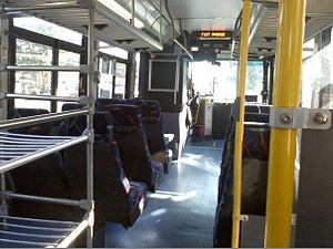 Metrobus (Washington, D.C.) - The interior of a WMATA (Metrobus) New Flyer D40LFR Suburban