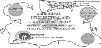 Indigenous intellectual property - Julayinbul Aboriginal Intellectual Property Conference Logo (1993)