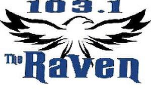 KRVX - 103.1 The Raven logo