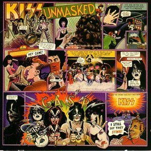 Unmasked (Kiss album) - Image: Kiss Unmasked Album Cover