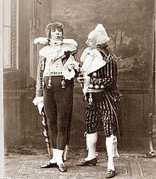 two comic actors in 1800 period costume