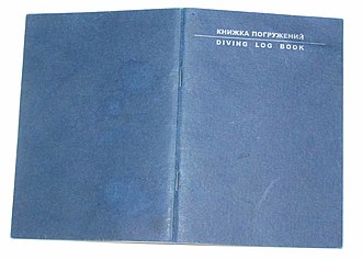Dive log - A CMAS dive log book.