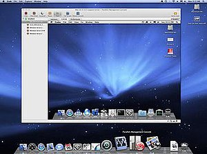 Parallels Server for Mac running Mac OS X Leopard Server in a VM on top of Mac OS X Leopard Server