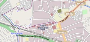 Park Royal Partnership - Map of the Park Royal area in north-west London
