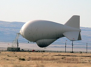 Aerostat - A modern aerostat used by the United States Department of Homeland Security
