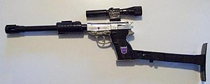 Megatron - The original Megatron toy in gun mode