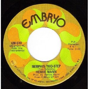 Memphis Two-Step - Embryo Records logo, from the 45 single