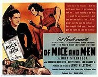 Movie poster for 1939 film version of Of Mice and Men.