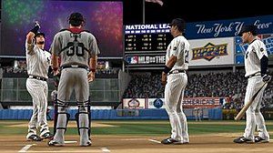 MLB 09: The Show - New Yankee Stadium as it appears in-game.