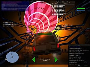 """Multi Theft Auto - A third-party race track """"resource"""" in Multi Theft Auto"""