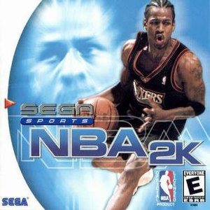 NBA 2K (video game) - Cover art featuring Allen Iverson