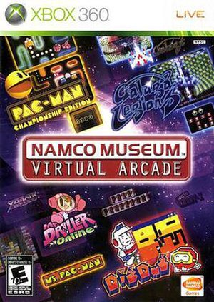 Namco Museum - North American Xbox 360 cover art