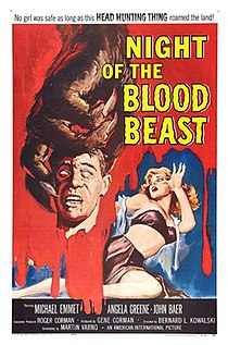 <i>Night of the Blood Beast</i> 1958 American science-fiction horror film by Bernard L. Kowalski