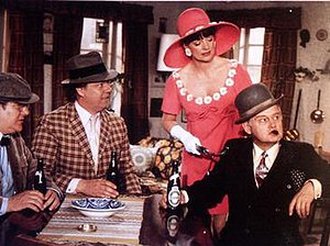 Olsen Gang - The Danish Olsen Gang.  Left to right: Kjeld, Benny, Yvonne, Egon.