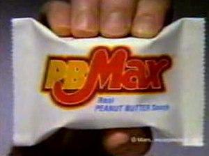 PB Max - PB Max candy bar in wrapper