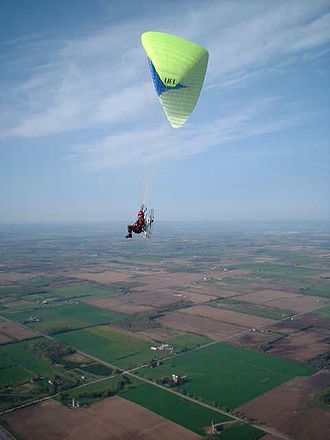 Ultralight aviation - A powered paraglider