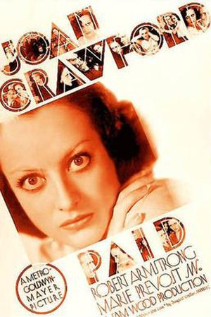 Paid (1930 film) - Image: Paid 30poster