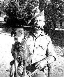 Kenneth Anderson and his pariah dog Nipper, whom he adopted during his hunt for the Leopard of Gummalapur