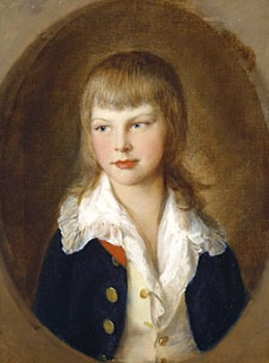 Prince Augustus Frederick, Duke of Sussex - Nine-year-old Prince Augustus in 1782, painted by Thomas Gainsborough