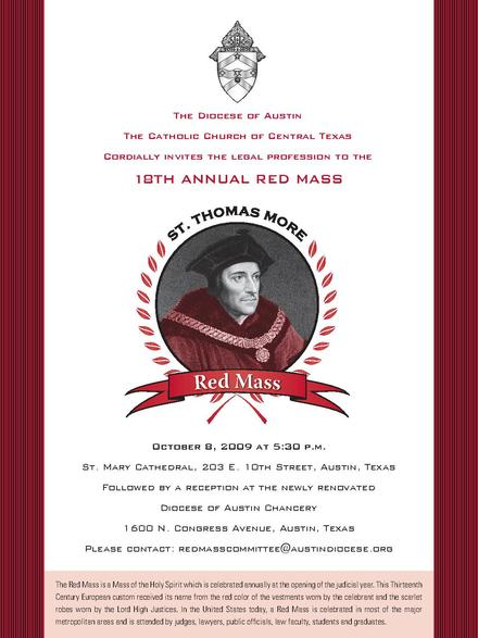 Diocese of Austin 2009 Red Mass Announcement RedMassAnnouncement.Austin.2009.pdf