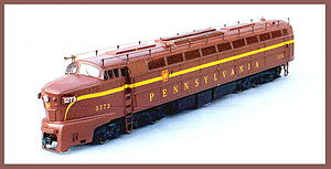 A Baldwin 6-axle locomotive kit cast in resin ...