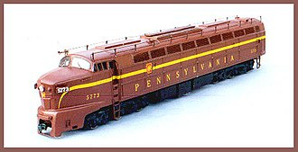 Resin casting - A Baldwin 6-axle locomotive kit cast in resin in HO Scale