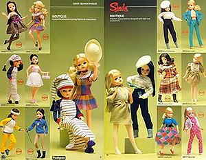 A sample of Sindy's up-to-date fashions in 1984.