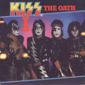 """Music from """"The Elder"""" - Dutch single cover to """"I"""" b/w """"The Oath"""" single."""