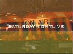 The title card for the twenty-eighth season of Saturday Night Live.