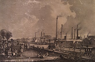 Chemical industry - Charles Tennant's St. Rollox Chemical Works in 1831, then the biggest chemical enterprise in the world.